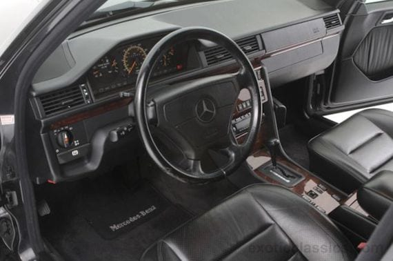 The 500E/E500 has one of the most user friend and attractive cockpits of any modern car. VDO gages, Recaro seats, a Becker radio, and a pungent aroma of Mercedes leather gave it a distinctly Teutonic German feel.