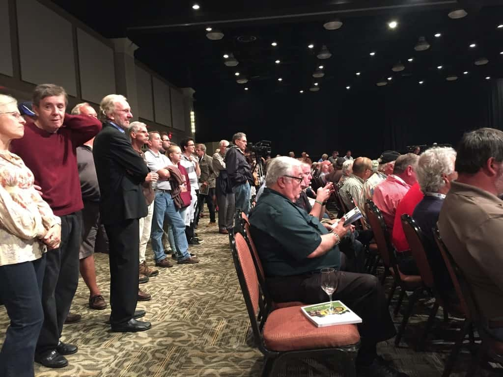 Standing room only in the Hershey Lodge ballroom