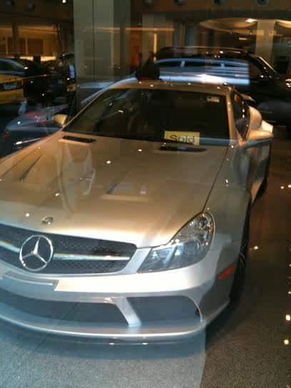 This is the actual photograph of the first SL 65 AMG Black Series I ever saw. It was taken through the window at the Park Avenue Mercedes-Benz Showroom on October 10, 2010. It had a big SOLD sign on it. I stood there on the corner of Park and 55th in a puddle of my own drool. After that day I dreamed of owning one.