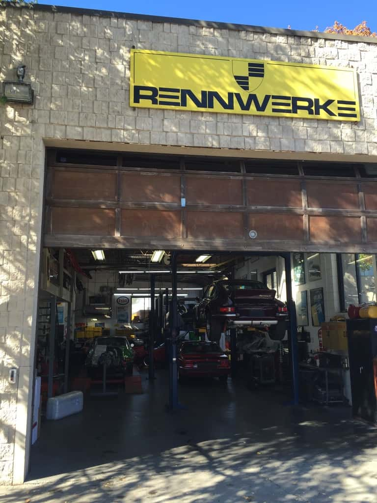 The main service bay at Rennwerke