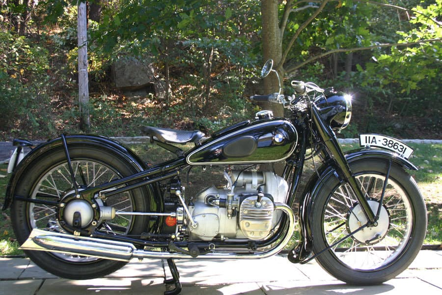 My 1937 BMW R6. This machine has over 1200 hours of restoration work. Only 1850 were built and the bike was offered only in 1937. Photo: Ken Richardson