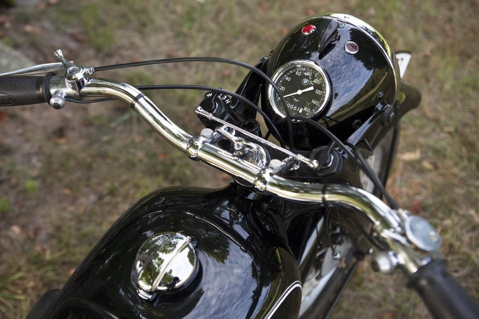 The R5's handlebars. This speedometer was rebuilt by a California company specializing in vintage speedometers. JAMES ROBERT FULLER FOR THE WALL STREET JOURNAL