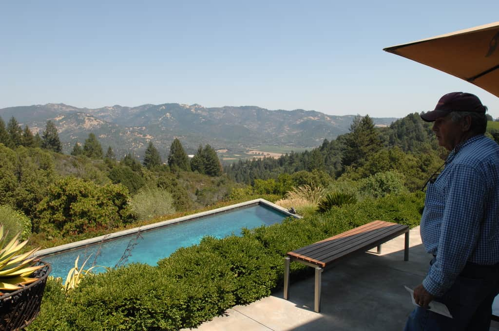 The view of Calistoga Valley from Tom and Nancy's house