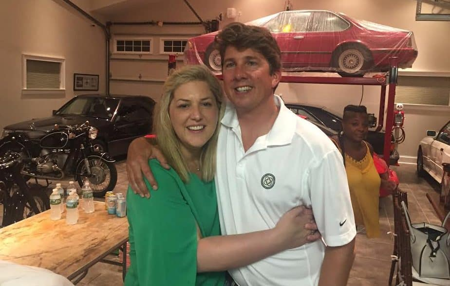 Sarah and Philip at the Turtle Garage July 2016