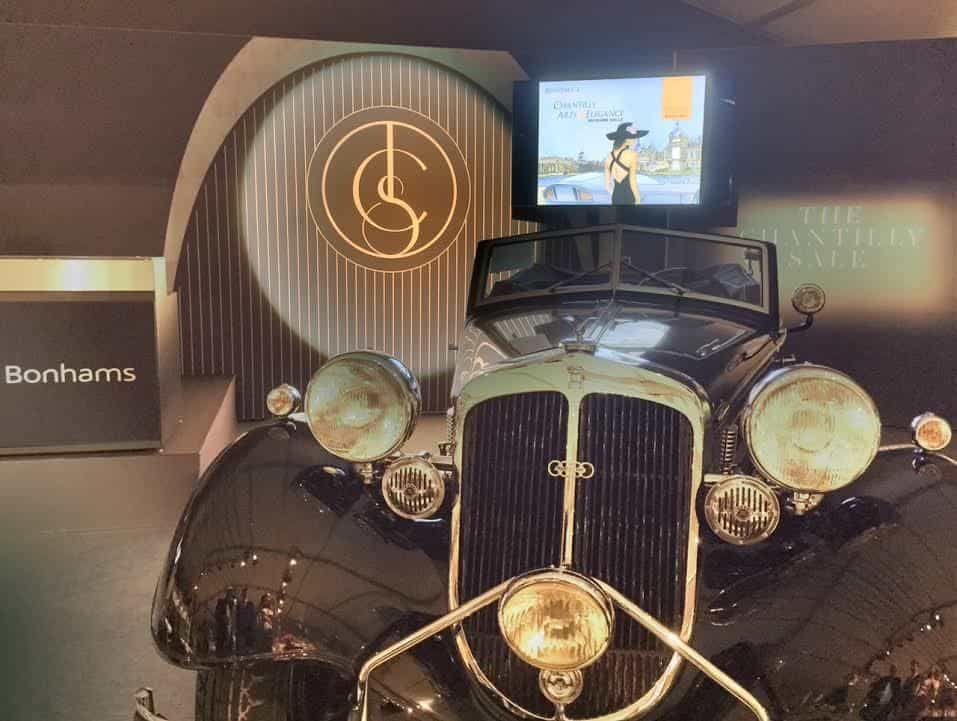 The Horch which will be auctioned off tomorrow.