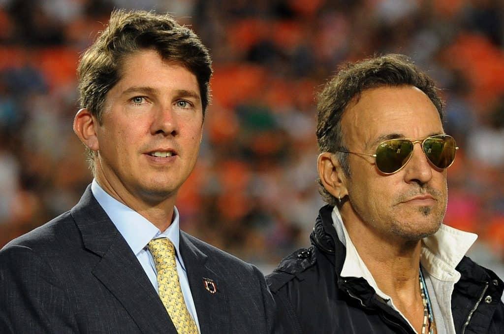 With the Boss, Miami Stadium 2013. Photo by Nancy Jaffer