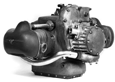 The BMW supercharged 500 cc motor.
