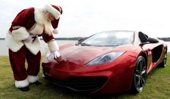 Christmas Sports Car.The Twelve Cars Of Christmas Turtle Garage