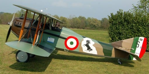A replica of Baracca's Spad VII